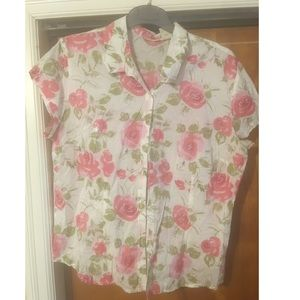 St. John's Bay Flower Top Sz L